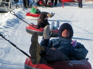 David tubing on Cranmore